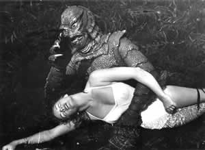 The Gill-Man finds a new friend to play with
