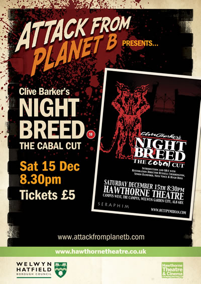 Attack From Planet B Present ... Nightbreed