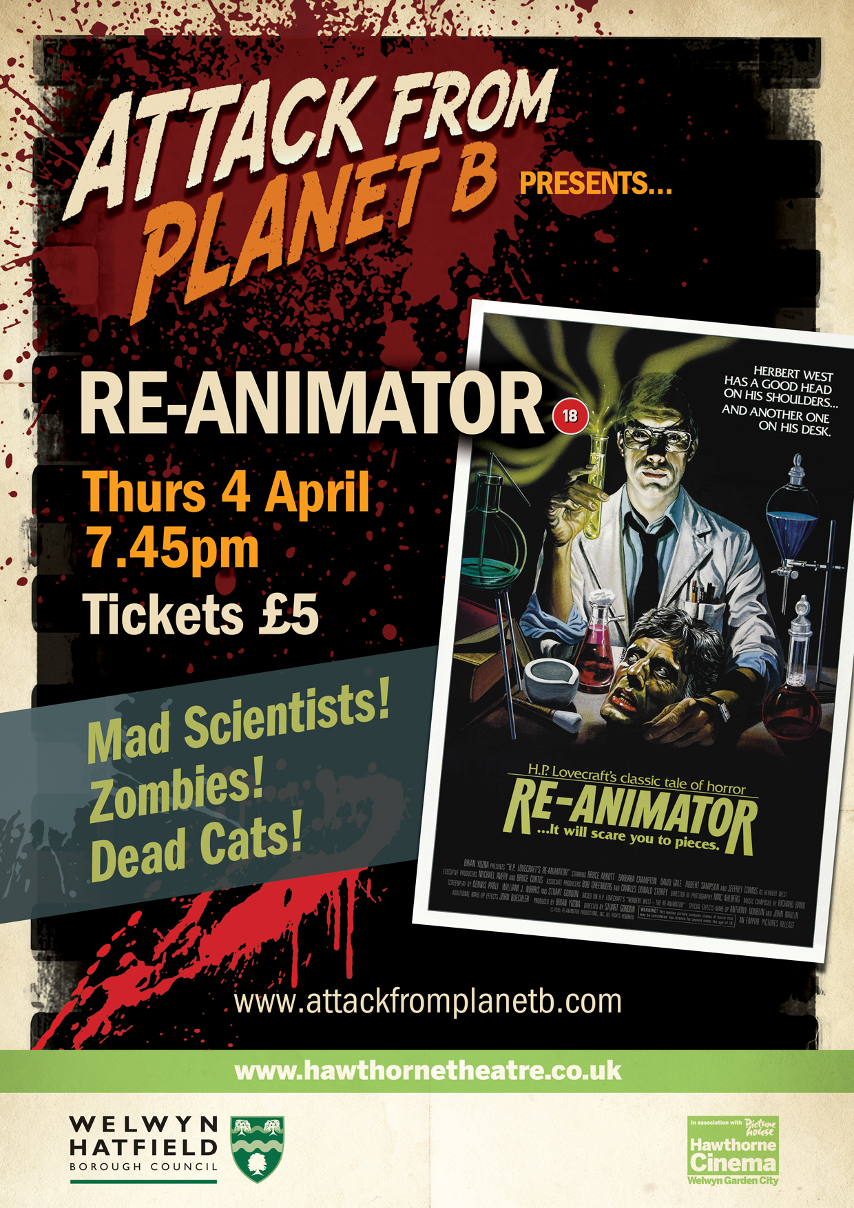 Attack From Planet B Presents ... Re-animator
