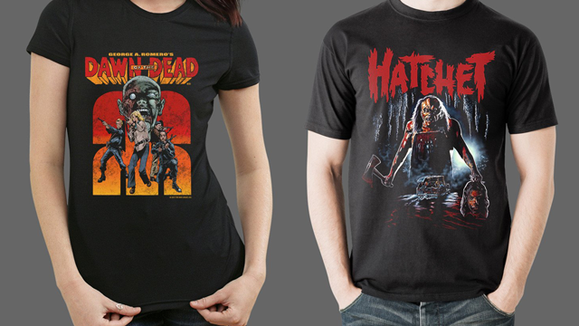 Dawn of the Dead, Hatchet and House of 1000 Corpses Merch from Fright-Rags