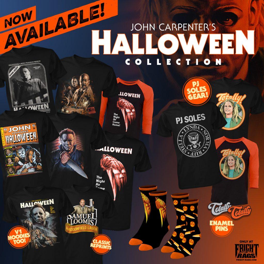 John Carpenter's Halloween Merchandise from Fright-Rags