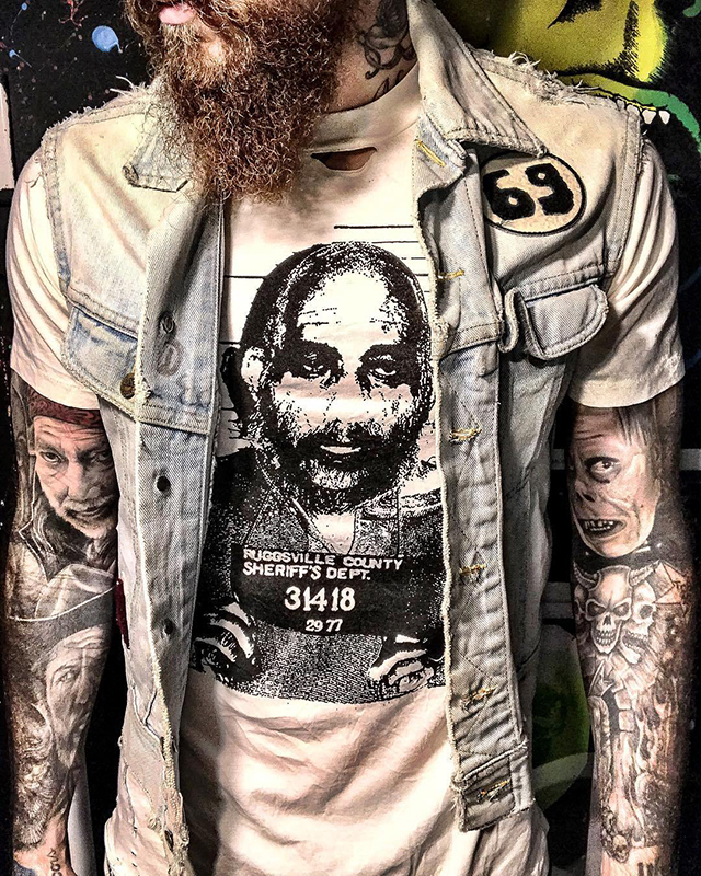 Limited Edition CAPTAIN SPAULDING Mugshot Tee from Local Boogeyman