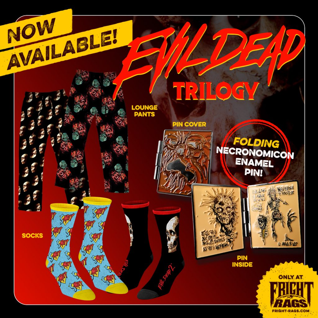 Shop smart, shop Fright-Rags for exclusive EVIL DEAD and WOLFCOP merchandise