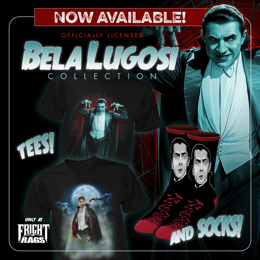 BELA LUGOSI and THE SILENCE OF THE LAMBS Merchandise from Fright-Rags