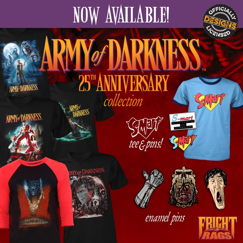 ARMY OF DARKNESS Merchandise from Fright-Rags