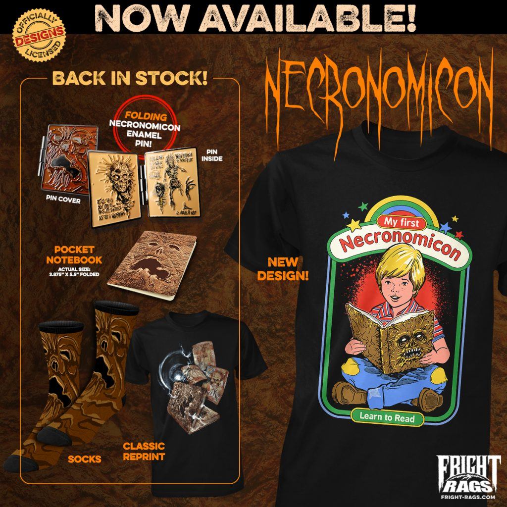 Fright-Rags' NECRONOMICON Apparel