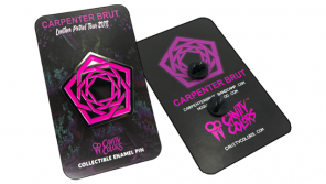 CARPENTER BRUT 💀 Leather Patrol Enamel Pin Now Available from Cavity Colors