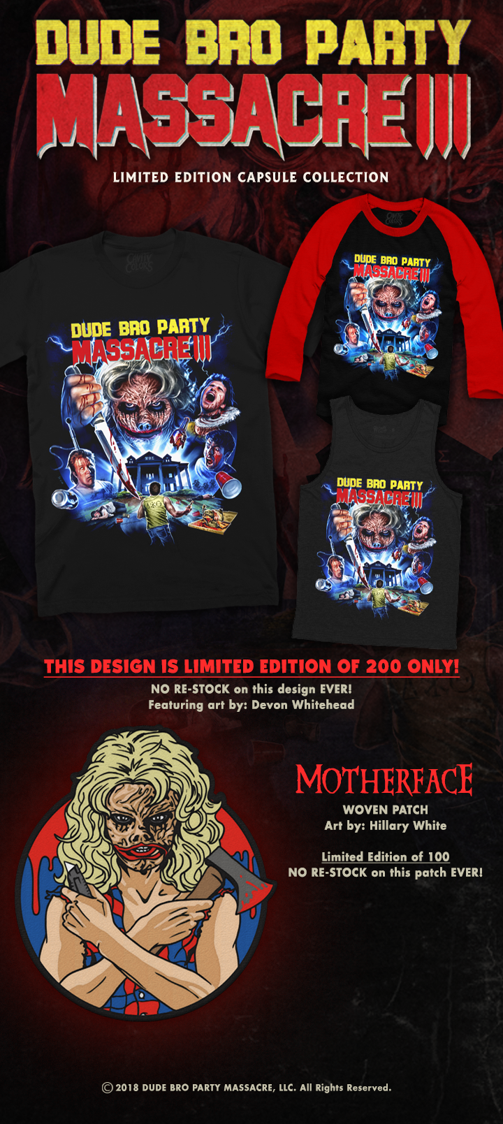 DUDE BRO PARTY MASSACRE III Limited Edition Capsule Collection