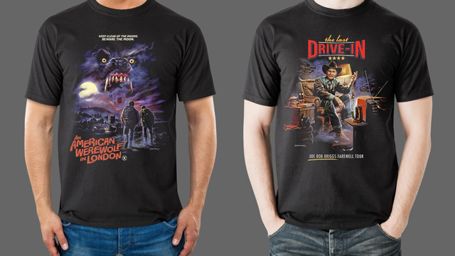 AN AMERICAN WEREWOLF IN LONDON, THE TEXAS CHAINSAW MASSACRE and JOE BOB BRIGGS Merchandise from Fright-Rags