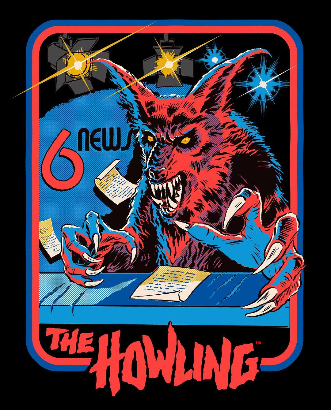 "THE HOWLING Collection Restocked + ""Newslady is a Werewolf"" T-Shirt 🐺 Now Available from Cavity Colors"