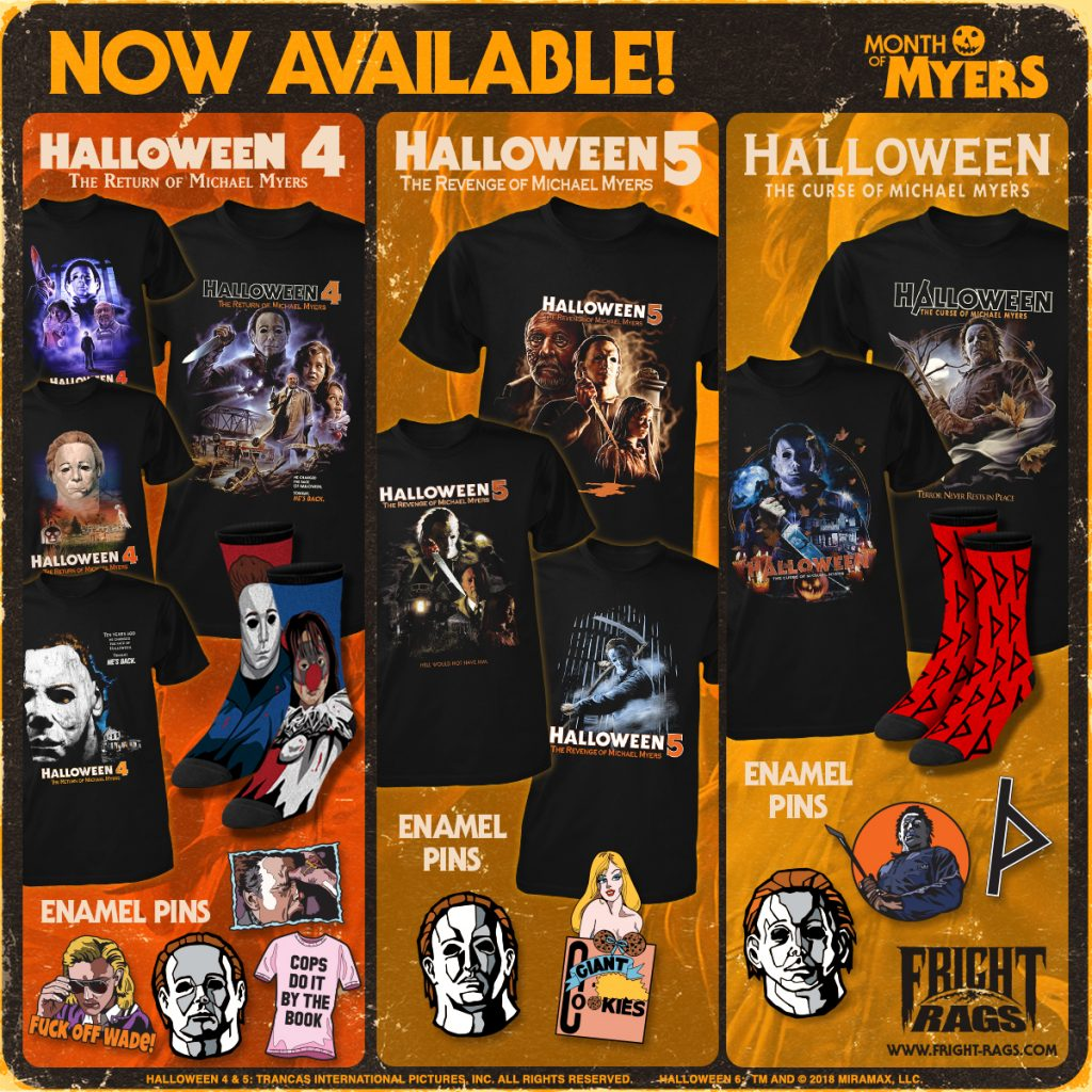 Fright-Rags' Month of Myers 🔪 HALLOWEEN 1-6 Apparel