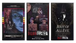 2 Terrifying Tapes of Halloween Horror Hit VHS: Dead by Midnight (11pm Central) & Dark Roast / Root of All Evil