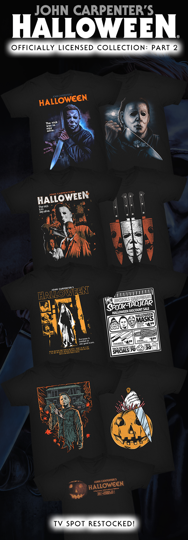 """""""The Trick Is to Stay Alive!"""" 🔪🎃 40th Anniversary HALLOWEEN Collection: Part 2 from Gutter Garbs"""