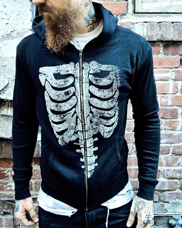 Local Boogeyman Ribcage Zip Up Hoodie