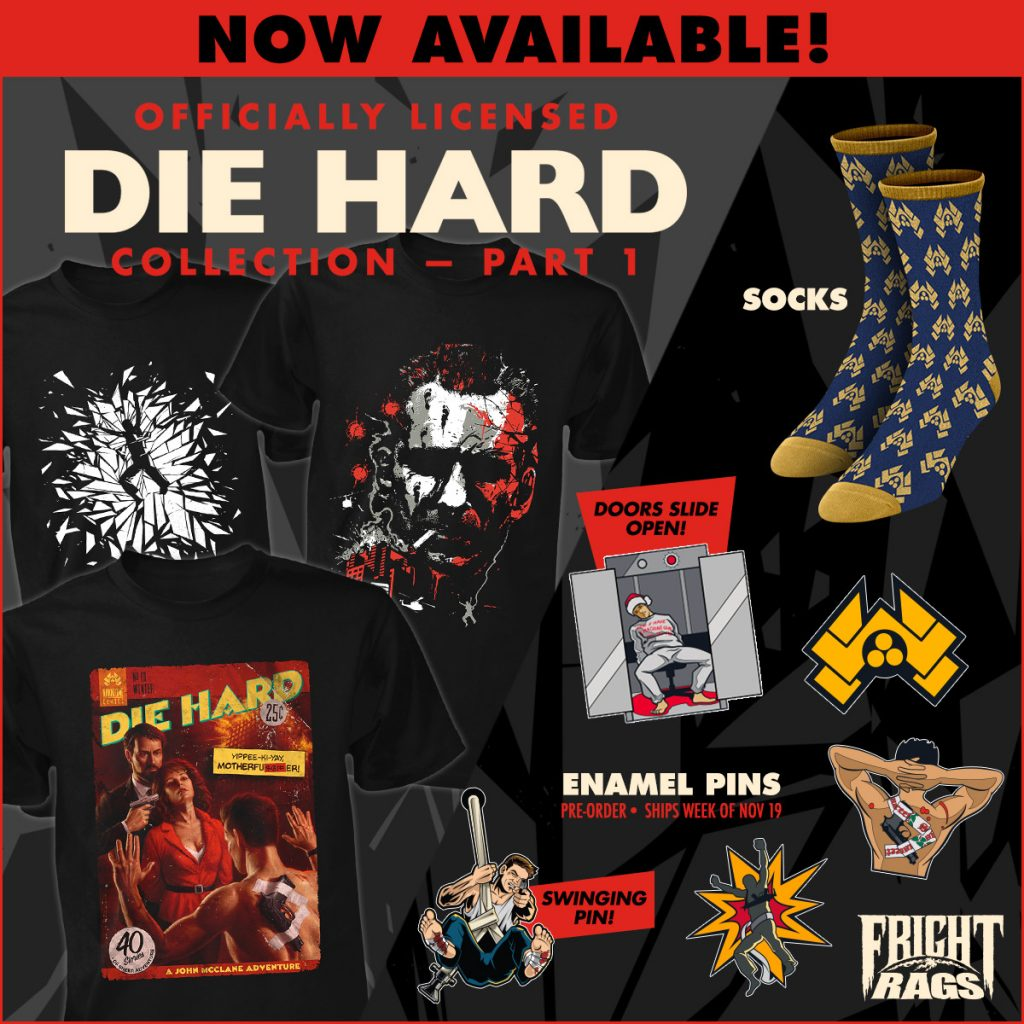 DIE HARD Merchandise Unearthed by Fright-Rags
