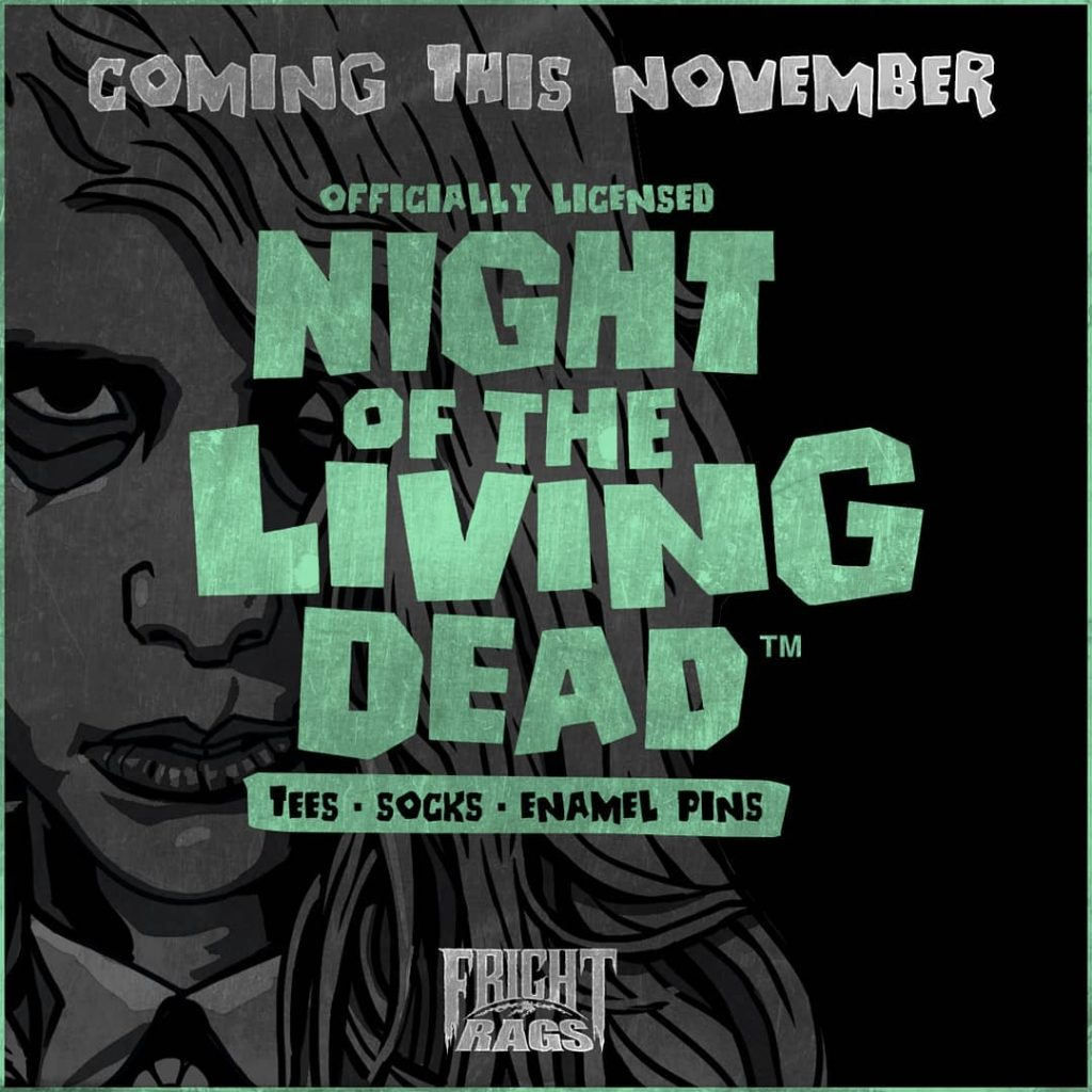 NIGHT OF THE LIVING DEAD Merchandise Unearthed by Fright-Rags