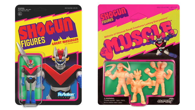 Super7 SHOGUN ReAction & M.U.S.C.L.E. Figures