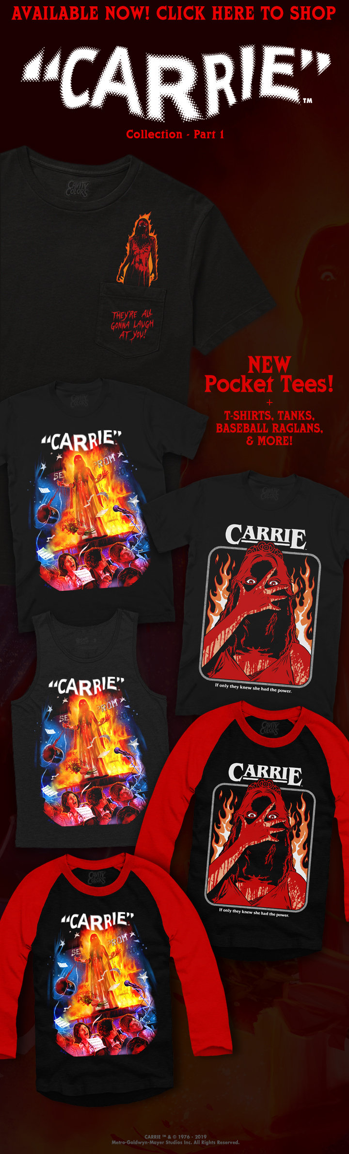 CARRIE Collection: Part 1 Now Available from Cavity Colors