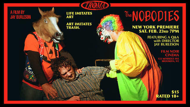 Film Noir Cinema (NYC) Screens THE NOBODIES (February 23rd) and BLOODSUCKING FREAKS (February 24th)