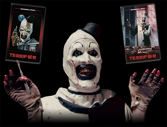 TERRIFIER & BOOK OF MONSTERS Collectible VHS Available 29 March from Broke Horror Fan