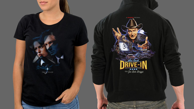 Fright-Rags' THE X-FILES & JOE BOB BRIGGS Merchandise Is Out of This World! 