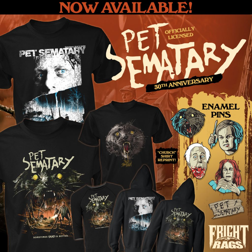 IEN DAY Collection Launches at Fright-Rags + PET SEMATARY & HALLOWEEN Merchandise