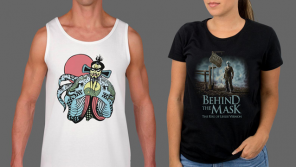 Cult Classics BIG TROUBLE IN LITTLE CHINA and BEHIND THE MASK: THE RISE OF LESLIE VERNON Apparel from Fright-Rags