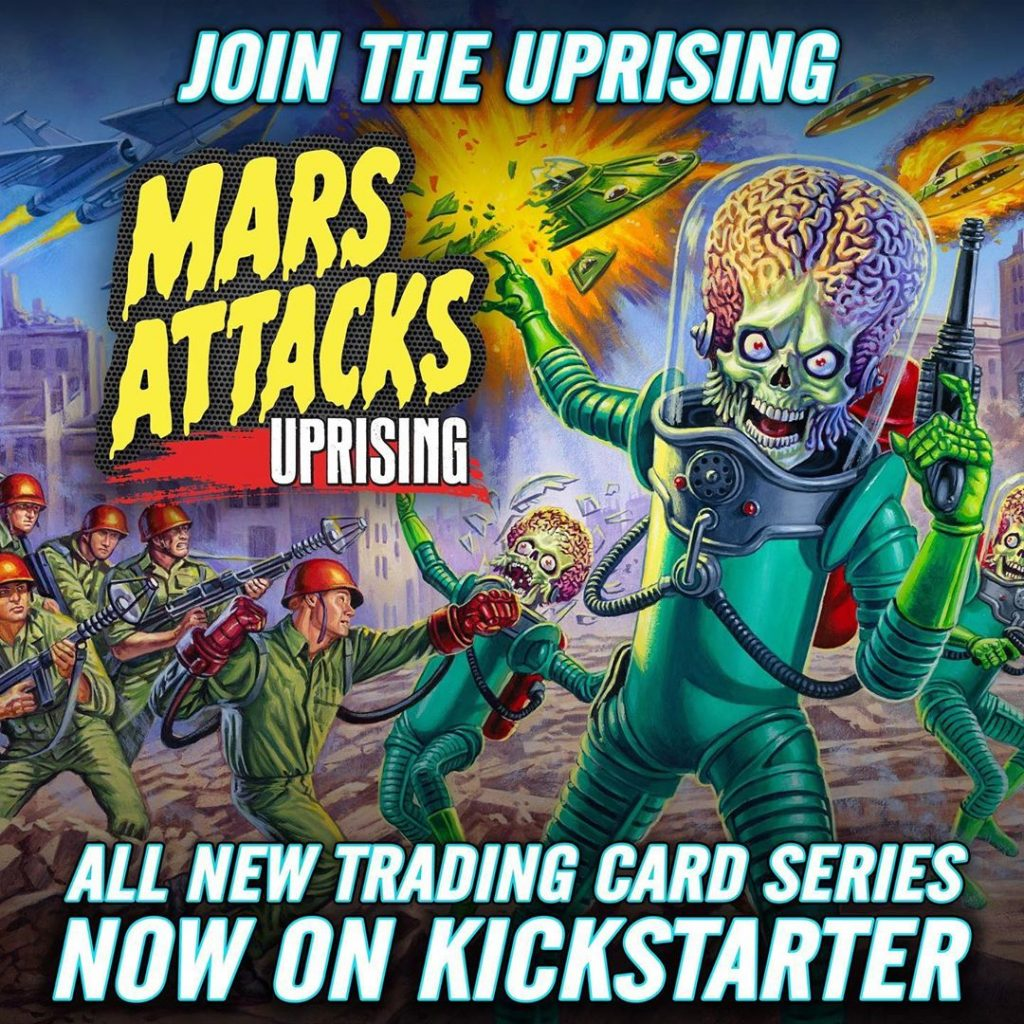Topps' New Licensed MARS ATTACKS Trading Card Set from SideKick Lab Crowdfunding on Kickstarter