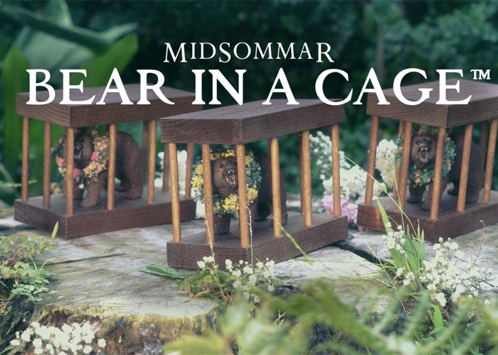 From A24 🌻 On This Lovely Summer Day: It's a MIDSOMMAR Bear in a Cage™