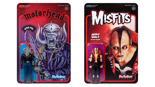 Super7 MOTÖRHEAD War-Pig & MISFITS Jerry Only ReAction Figures