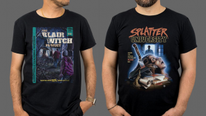 THE BLAIR WITCH PROJECT 20th Anniversary Apparel + JAWS, E.T. THE EXTRA-TERRESTRIAL & SPLATTER UNIVERSITY Tees from Fright-Rags