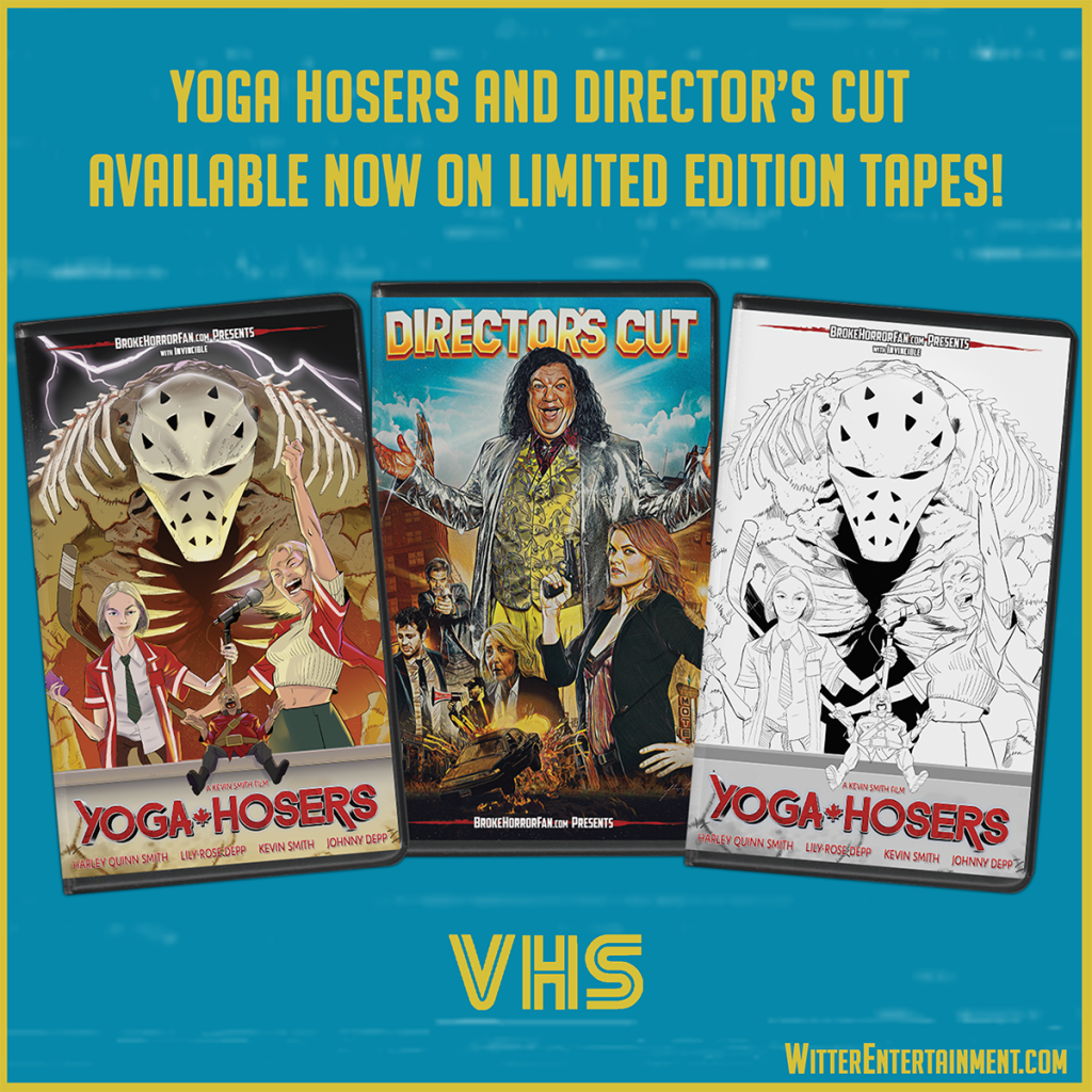 YOGA HOSERS & DIRECTOR'S CUT Now Available on VHS + VICTOR CROWLEY Gets Anniversary Variant 📼 Courtesy of Broke Horror Fan