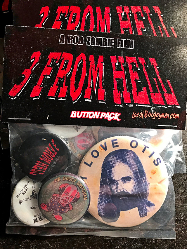 Limited Edition 3 FROM HELL T-Shirts & Buttons from Local Boogeyman