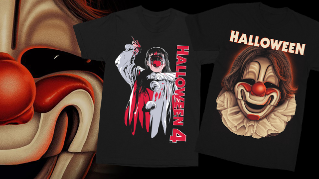 """Horror has returned to Haddonfield!"" HALLOWEEN & HALLOWEEN 4: THE RETURN OF MICHAEL MYERS Collections from Gutter Garbs"