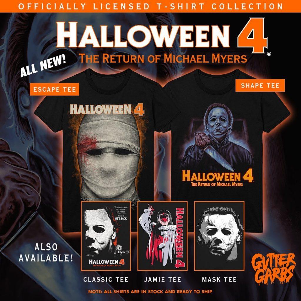 """""""Michael lives!"""" HALLOWEEN 4: THE RETURN OF MICHAEL MYERS & HALLOWEEN 5: THE REVENGE OF MICHAEL MYERS Collections from Gutter Garbs"""
