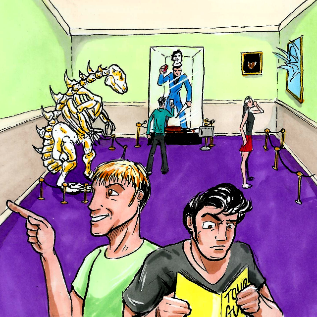 Unfortunate Tales from Planet B is a webcomic inspired by VHS cult classics!