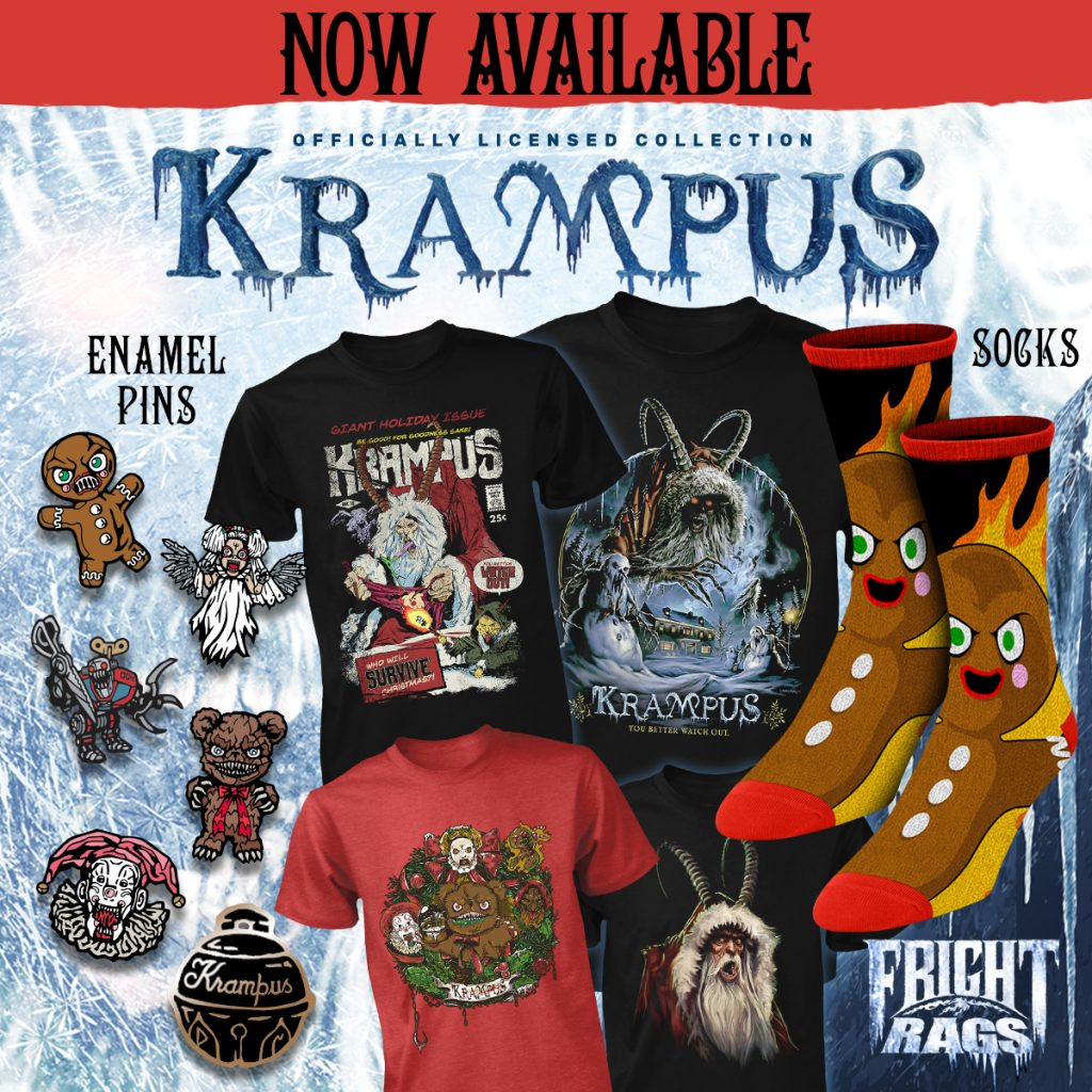 Survive the Holidays with KRAMPUS & CREEPSHOW Apparel from Fright-Rags