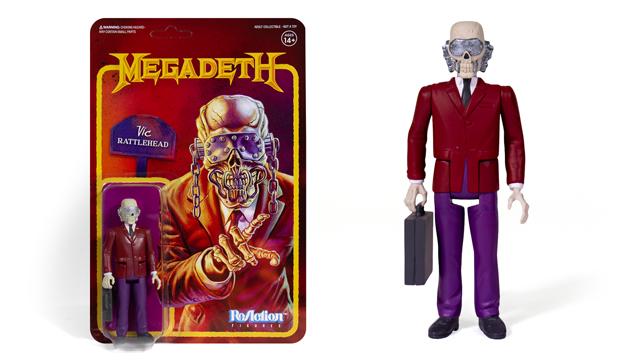 Super7 MEGADETH Vic Rattlehead ReAction Figure
