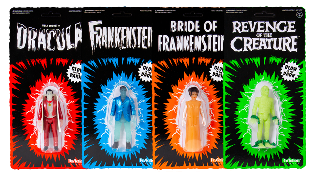Super7 Glow-in-the-Dark UNIVERSAL MONSTERS ReAction Figures
