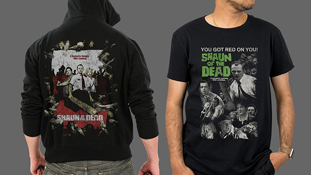 SHAUN OF THE DEAD Apparel & Black Friday Specials at Fright-Rags