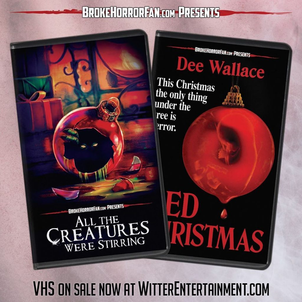 ALL THE CREATURES WERE STIRRING & RED CHRISTMAS Now Available on VHS 📼 Courtesy of Broke Horror Fan & Witter Entertainment