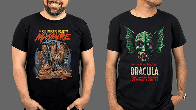 You Bring the Pizza, Fright-Rags Will Bring the SLUMBER PARTY MASSACRE, BELA LUGOSI, VESTRON VIDEO, MY BLOODY VALENTINE 3D, EDWARD SCISSORHANDS & AMERICAN HORROR STORY Apparel!