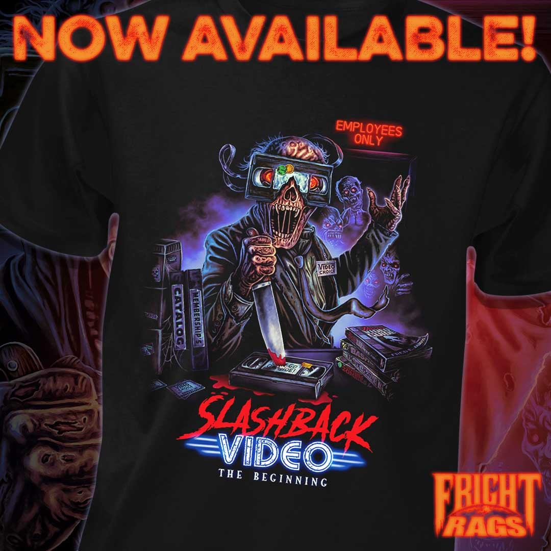 TRICK 'R TREAT & GHOSTBUSTERS Mini Masks + SLASHBACK VIDEO, SHOCK WAVES, HALLOWEEN, THE BLAIR WITCH PROJECT & THE AMITYVILLE HORROR Apparel from Fright-Rags