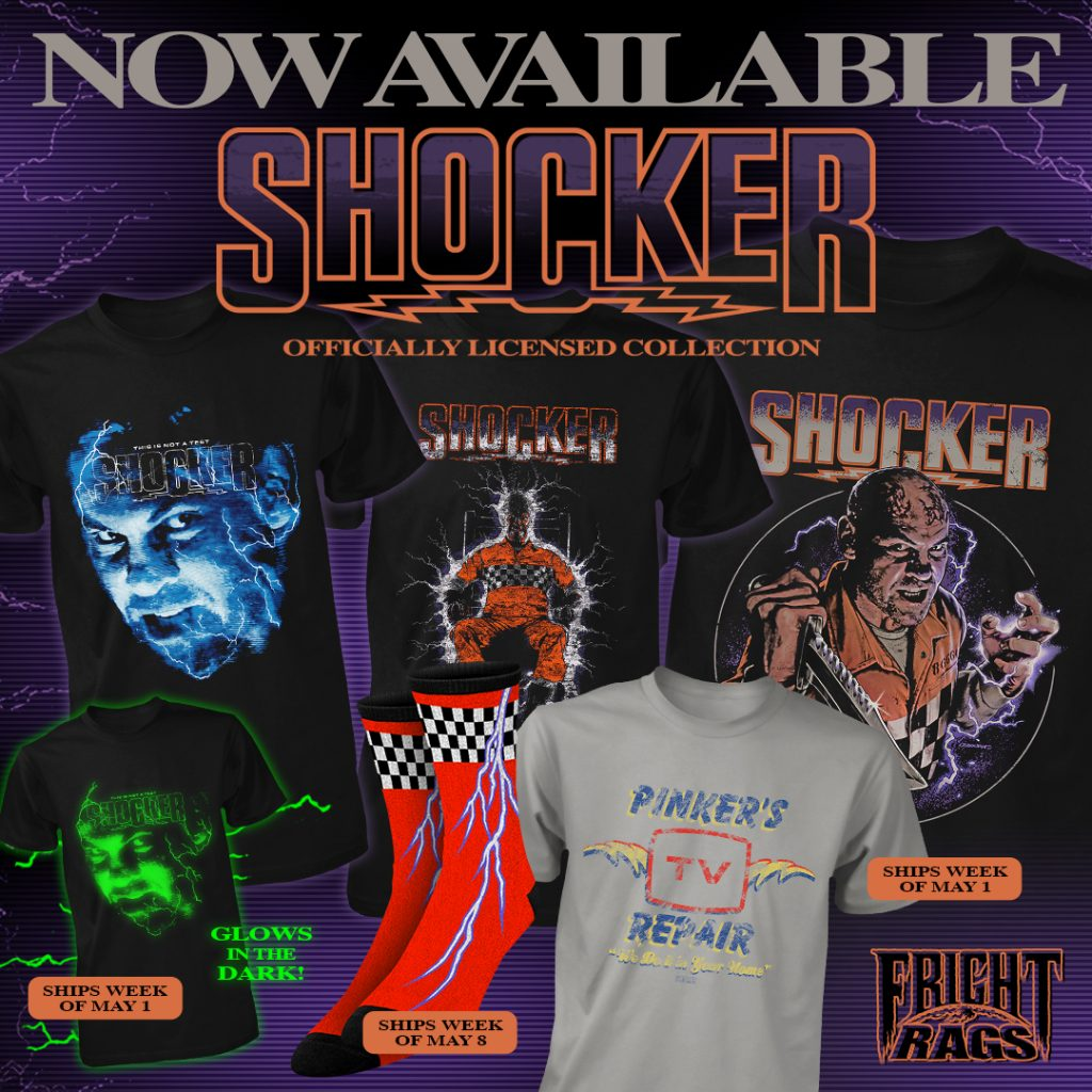 Look Death in the Face with SHOCKER, UNIVERSAL MONSTERS & THEY LIVE Apparel from Fright-Rags