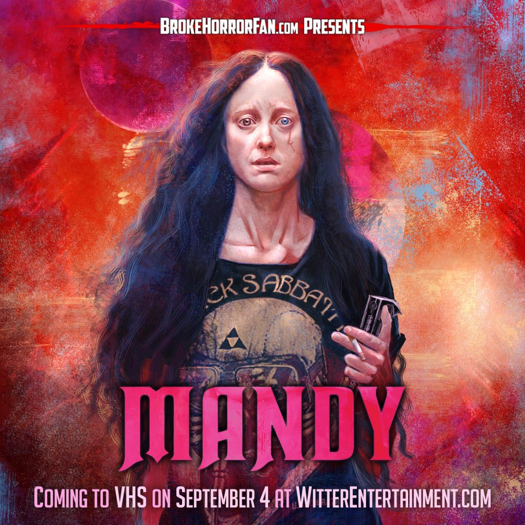 MANDY Rampages on Limited Edition VHS! 📼 Courtesy of Broke Horror Fan & Witter Entertainment