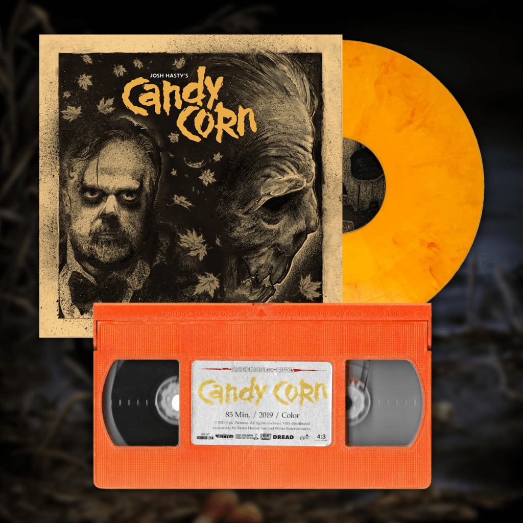 CANDY CORN Extremely Limited Edition VHS & Vinyl Soundtrack Bundle Now Available from Broke Horror Fan & Witter Entertainment! 🎃