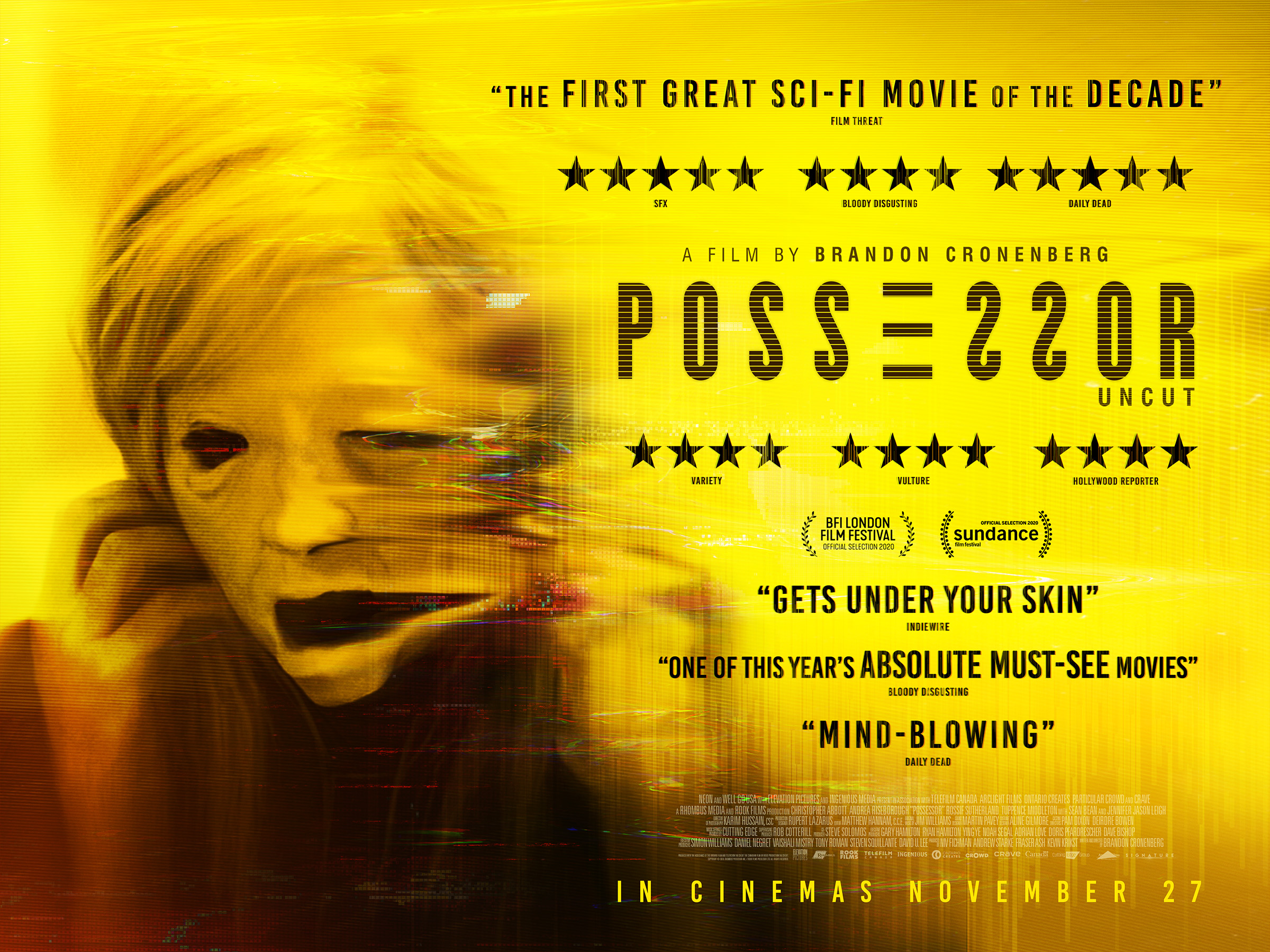 Signature Entertainment Presents Brandon Cronenberg's Possessor in Cinemas (UK / 27 November)