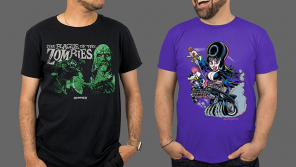 ELVIRA: MISTRESS OF THE DARK, HAMMER, & THE HOUSES OCTOBER BUILT Apparel from Fright-Rags