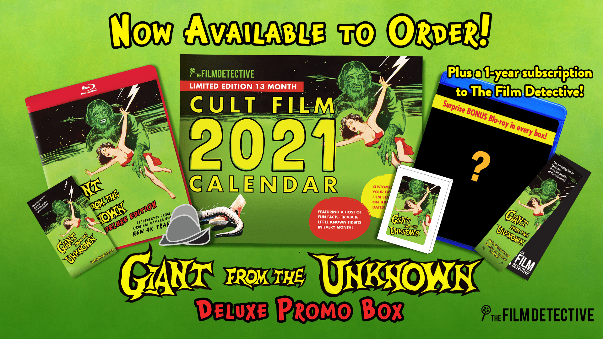 Limited Edition GIANT FROM THE UNKNOWN Blu-ray & DVD Box Sets Available from The Film Detective (USA / 20 November)