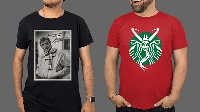 TOM ATKINS Signature Tee, KRAMPUS Activity Book & Christmas Horror T-Shirts from Fright-Rags